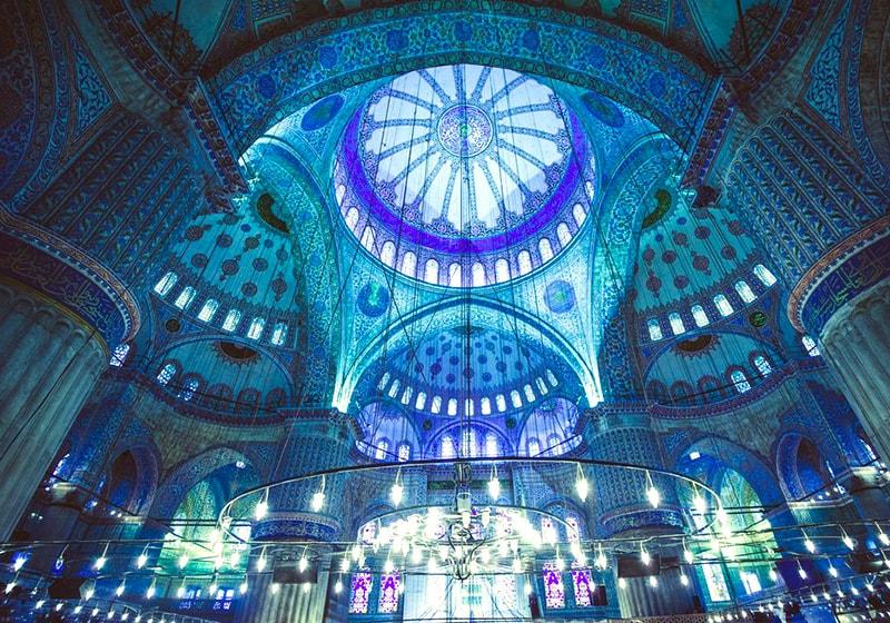 مسجد السلطان أحمد من الداحل