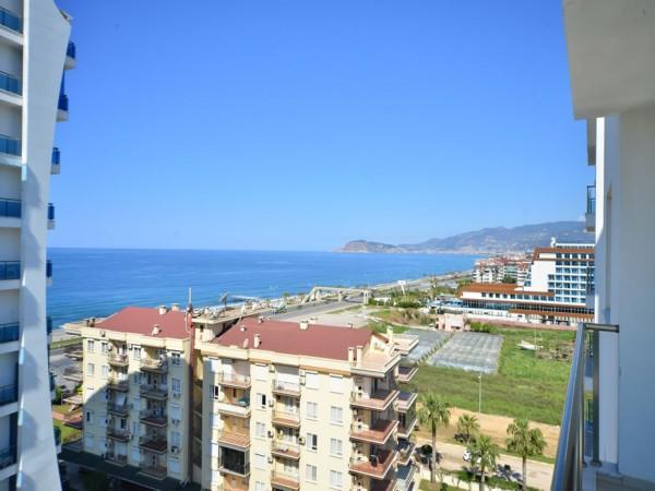 شقة للبيع مريحة غرفتين نوم بالقرب من الشاطئ في ألانيا