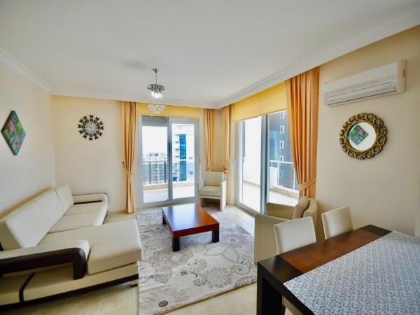 شقة للبيع غرفتين نوم كبيرة مع مناظر خلابة وهواء منعش في ألانيا